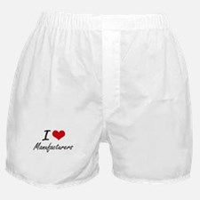 I Love Manufacturers Boxer Shorts