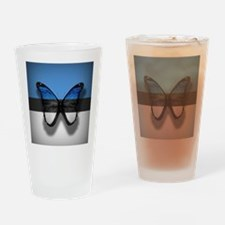 Abstract Butterfly Drinking Glass