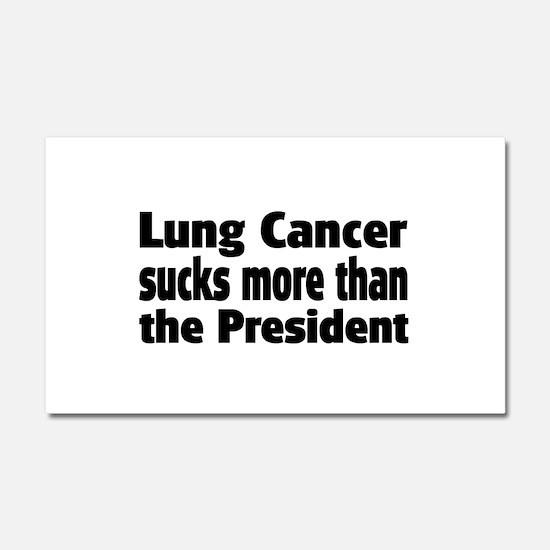 Lung Cancer Car Magnet 20 x 12