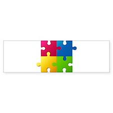 Autism Awareness Puzzle Bumper Bumper Sticker
