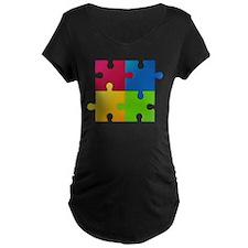 Autism Awareness Puzzle Maternity T-Shirt