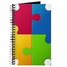 Autism Awareness Puzzle Journal