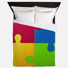 Autism Awareness Puzzle Queen Duvet