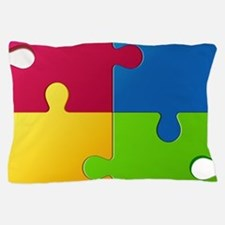 Autism Awareness Puzzle Pillow Case