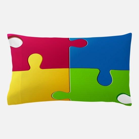 Autism Awareness Puzzle Pillow Case