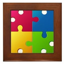 Autism Awareness Puzzle Framed Tile