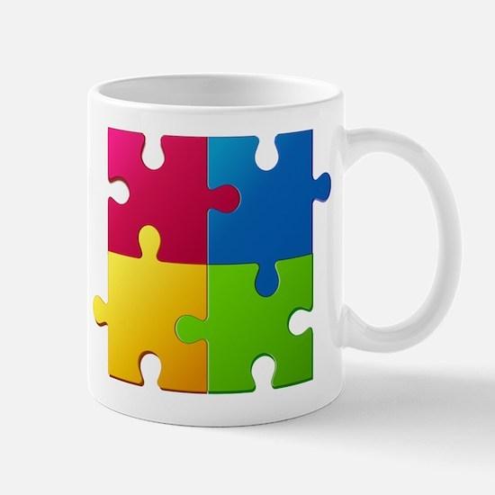 Autism Awareness Puzzle Mugs