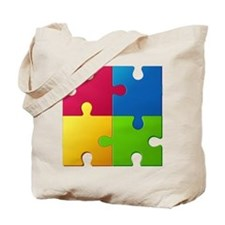 Autism Awareness Puzzle Tote Bag