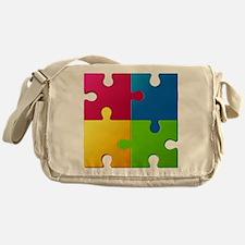 Autism Awareness Puzzle Messenger Bag