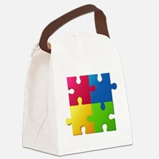 Autism Awareness Puzzle Canvas Lunch Bag
