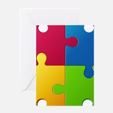 Autism Awareness Puzzle Greeting Cards
