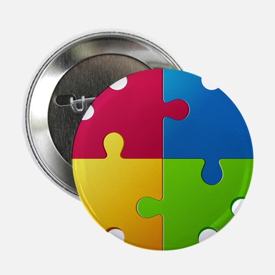 "Autism Awareness Puzzle 2.25"" Button"