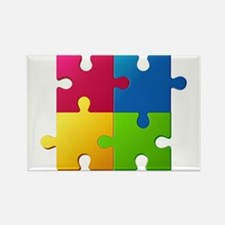 Autism Awareness Puzzle Magnets