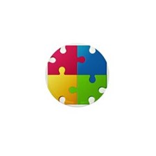 Autism Awareness Puzzle Mini Button (10 pack)
