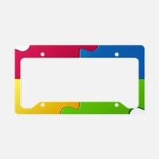 Autism Awareness Puzzle License Plate Holder
