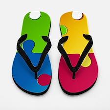 Autism Awareness Puzzle Flip Flops