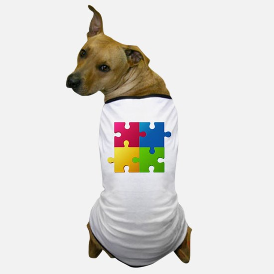 Autism Awareness Puzzle Dog T-Shirt