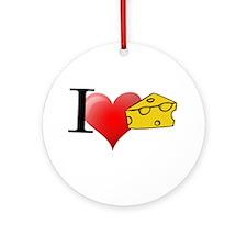 Cute Cheese Ornament (Round)