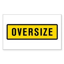 'Oversize' Rectangle Decal