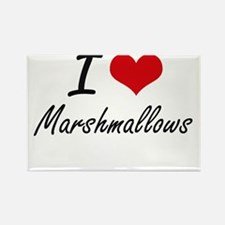 I Love Marshmallows Magnets