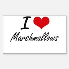 I Love Marshmallows Decal