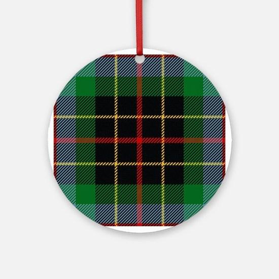 Brodie Hunting Scottish Tartan Round Ornament