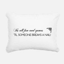 ITS ALL FUN AND GAM... Rectangular Canvas Pillow