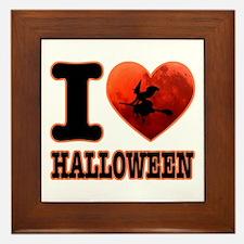 I love Halloween Framed Tile