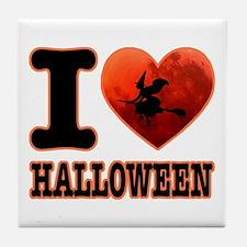 I love Halloween Tile Coaster