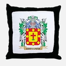 Crossman Coat of Arms - Family Crest Throw Pillow