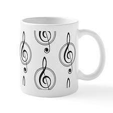 Treble Clef Pattern Mugs