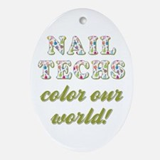 NAIL TECHS Oval Ornament