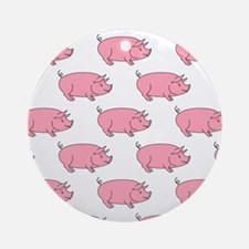 Field of Pigs Round Ornament
