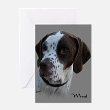 Mud the English Pointer Greeting Card