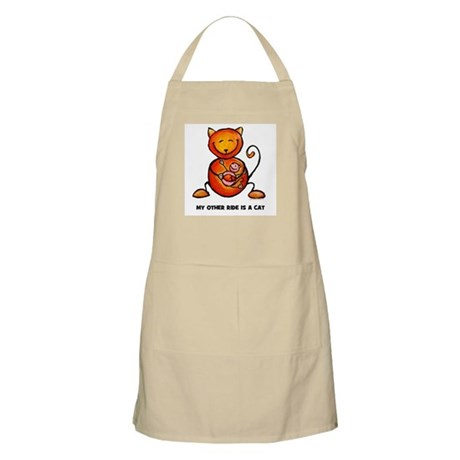my other ride is a cat BBQ Apron