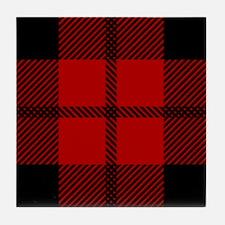 Brodie Red Scottish Tartan Tile Coaster