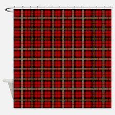 Brodie Red Scottish Tartan Shower Curtain