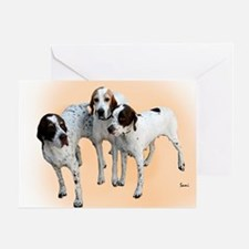 Cute Hunting dogs Greeting Card