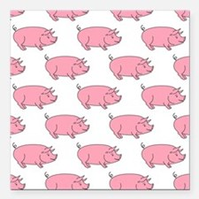 """Field of Pigs Square Car Magnet 3"""" x 3"""""""