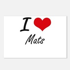 I Love Mats Postcards (Package of 8)