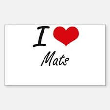 I Love Mats Decal