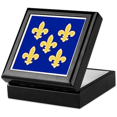 Five Golden Fleur de lis Keepsake Box