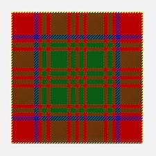Burns Scottish Tartan Tile Coaster
