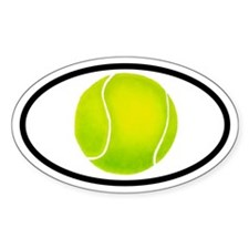 Tennis Ball Oval Stickers