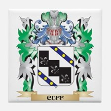 Cuff Coat of Arms - Family Crest Tile Coaster