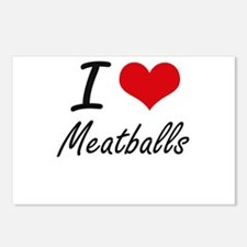 I Love Meatballs Postcards (Package of 8)