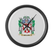 Cullen Coat of Arms - Family Cres Large Wall Clock