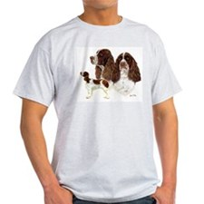 Cute English springer spaniel and christmas tree T-Shirt