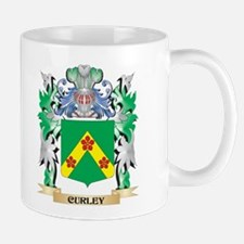Curley Coat of Arms - Family Crest Mugs