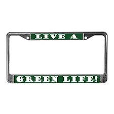 Green Life License Plate Frame